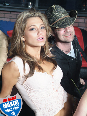 Jessica and Playboy photographer David Rams - The Great Maxim Magazine Road Trip Photos and Pictures.